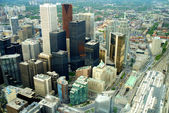 View from the top of the CN Tower in Toronto Canada — Stock Photo