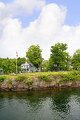 The 1000 Islands on the St Lawrence River which borders Canada and the USA. — Stock Photo