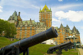 Chateau Style Hotel in Quebec Canada — Stock Photo