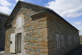 Building for storing gunpowder for cannons on the Fortifications and battlements around Quebec in Canada — Stock Photo