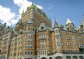 Chateau Style Hotel in Quebec Canada — Fotografia Stock