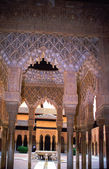 The Court of Lions in the Alhambra palace in Granada Spain — Stock Photo