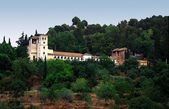 The Gardens of the Alhambra Palace in Granada Spain — Stock Photo