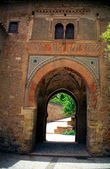 The Wine Gate of the Alhambra Palace in Granada Spain — Stock Photo