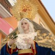 Virgin Mary Staue in Easter procession in Southern Spain — Stock Photo #51258159