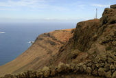 The Mirador Viewpoint on the Volcanic Island of Lanzarote in the Canary Islands — Stock Photo