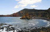El Golfo on the volcanic Atlantic island of Lanzarote in the Canary Islands — Stock Photo