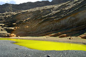 El Golfo on the Volcanic Island of Lanzarote in the Canary Islands — Stock Photo