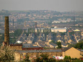View over the industrial town of Burnley — Stok fotoğraf
