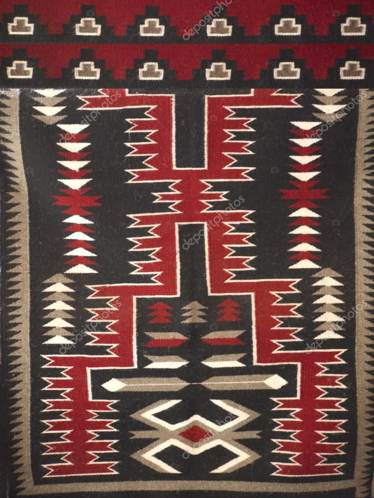 motifs navajo sur tapis en arizona aux tats unis photographie quasarphotos 51430481. Black Bedroom Furniture Sets. Home Design Ideas