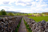 Linton near Grassington in North Yorkshire England is an area of outstanding natural Beauty — Stok fotoğraf
