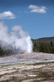 Old Faithful Geyser in Yellowstone National Park Wyoming USA — Stock Photo