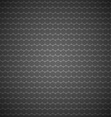 Seamless pattern composed of abstract elements which is placed on a dark background — Stock Vector