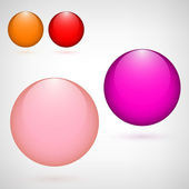 Set of colored glass balls for your design — Stock Vector