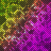 Abstract Geometrical Multicolored Background consisting of square elements with rounded corners, which is placed on a black background — Stock Vector