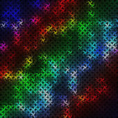 Multicolored background consisting of abstract elements forming a braided pattern — Stock Vector