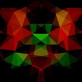 Abstrakta geometriska flerfärgad bakgrund bestående av ljusa triangulära element — Stockvektor