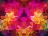 Abstract geometrical multicolored background consisting of bright triangular elements — Stock Vector