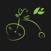 Green eco bike. Vector illustration — Stock Vector