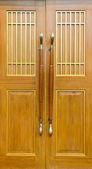 The wooden door — 图库照片