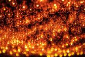Burning bulbs — ストック写真