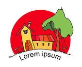 Logo. Cat House. — Stock vektor