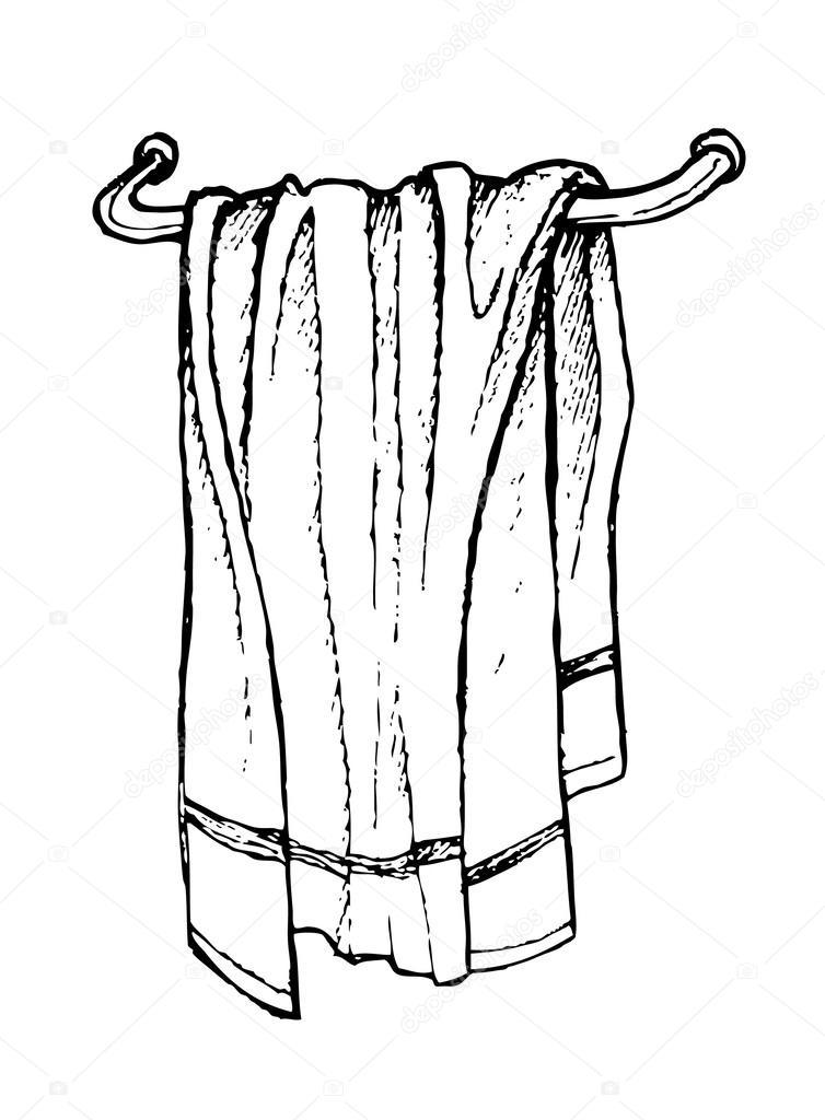 Line Art Xl 2000 : Serviette de bain dessinés à la main dessin au trait