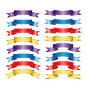Conjunto de grandes cintas, aislado sobre fondo blanco, — Vector de stock