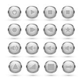 Media player buttons. — Stock Vector