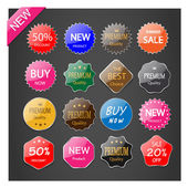 Set of labels. — Stock Vector