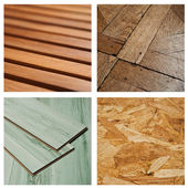 Wooden background collage — Stock Photo