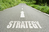 Strategy on the road — Stockfoto