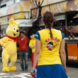 MULHOUSE - FRANCE - 13 th July 2014 - tour de France - haribo advertising — Stock Photo