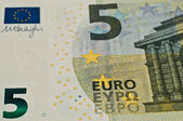Bank note of five euros — Stock Photo
