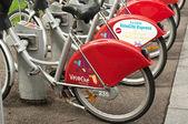 MULHOUSE - FRANCE - 13 th July 2014 - city bike vacation — Stock Photo