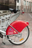 MULHOUSE - FRANCE - 13 th July 2014 - city bike vacation — Stock Photo