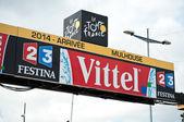MULHOUSE - FRANCE - 13 th July 2014 - tour de France - arrival line — Stock Photo