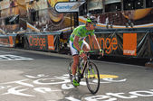 MULHOUSE - FRANCE - 13 th July 2014 - tour de France - arrival cyclist — Stock Photo