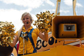 MULHOUSE - FRANCE - 13 th July 2014 - tour de France - bic advertising — Stock Photo