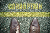 Road concept - corruption — Stock Photo