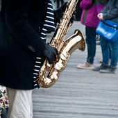Saxophone in Paris — Stock Photo
