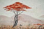 Urban Art - isolated tree in the Savannah — Stock Photo