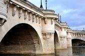 New bridge in Paris — Stock Photo