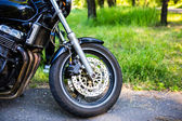 The front wheel of a motorcyle — Stock Photo