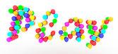 Hrát text bubliny — Stock fotografie