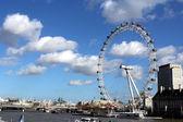 London Eye and Thames River — Foto Stock