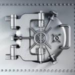 Vaulted metal bank door — Stock Photo #49150405