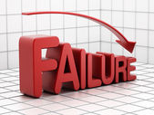 Failure graph — Stock Photo