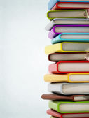 Colorful book stack with copyspace — Stock Photo