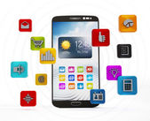 Smartphone applications — Stock Photo
